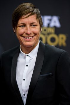 Abby Wambach at the Ballon d'Or Gala in Zurich, Jan. 12, 2015. (Philipp Schmidli/Getty Images Europe)