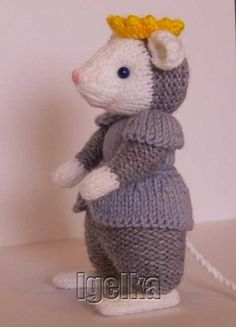 Knitted Toys Animal Knitting Patterns, Christmas Knitting Patterns, Crochet Dolls, Knit Crochet, Crochet Hats, Craft Patterns, Doll Toys, Kids Toys, Diy And Crafts