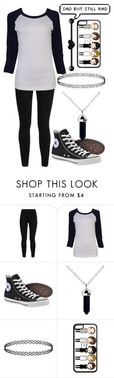 """Untitled #923"" by xxghostlygracexx ❤ liked on Polyvore featuring Levi's, Forever 21 and Converse"