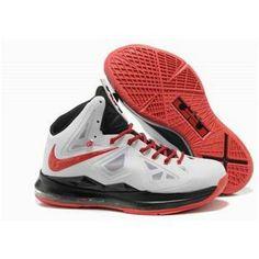 buy popular e09b0 27194 www.anike4u.com/ Cheap Nike Lebron 10 White Red Black New Jordans Shoes