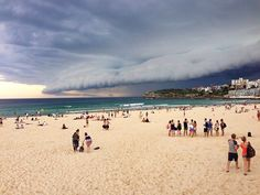 #BONDIBEACH by Rainer Kirchner #Photocircle #nofilter #forceofnature #storm #seaside #sea #ocean #spectacle #brouhaha #beach #sand #water #clouds #blue #yellow #Australia #thunderstorm #Sydney  #Closethecircle - if you buy this photo Rainer Kirchner and Photocircle #donate 9% to provide an #oxygen concentrator for patients with #TB in #EastTimor