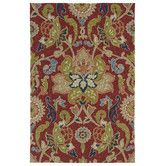 Found it at Wayfair - Home and Porch Red Floral and Plants Indoor/Outdoor Area Rug