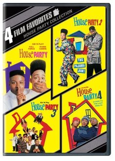4 Film Favorites: House Party (House Party, House Party 2, House Party 3, House Party 4) DVD ~ Kid 'N Play, IMx, Full Force, Tisha Campbell, Iman, Queen Latifah, Martin Lawrence, Bernie Mac, Gilbert Gottfried, TLC