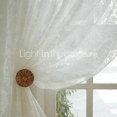 (to paneler) klassiske hvide jacquard sheer curtain - DKK kr. 587