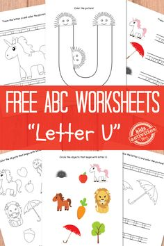 Letter U Worksheets. Print the whole alphabet!
