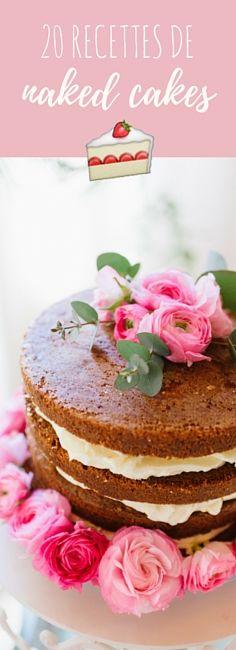 20 recettes de naked cakes !