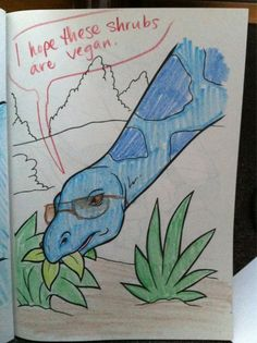 Hipster Dinosaur Coloring Book I Hope These Shrubs Are Vegan