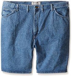 Wrangler Authentics Mens Big  Tall Denim 5 Pocket Short -- For more information, visit image link.