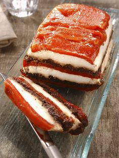 Goat terrine with peppers and tapenade - cuisine - Easy Salad Recipes Taco Bell Recipes, Easy Salad Recipes, Easy Salads, Veggie Recipes, Vegetarian Recipes, Cooking Recipes, Food Porn, No Cook Meals, I Foods