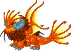 Harvest Moon Dragon (Epic|Plant/Earth/Water/Moon) [The outrageously orange harvest moon is a rare sighting in the Vale, usually occurring in the late summer or early autumn--but yet more rare is the harvest moon dragon! This shy sweetie seems to be smitten with its namesake, generally appearing when the lunar orb is cast in harvest hues. You might consider decorating your park in shades of orange to make this dragon feel right at home!]