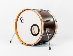 C&C Drums Europe - Vintage Drums - Player Date 2 - Walnut Satin - Bass Drum www.candcdrumseurope.com