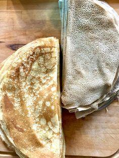 Crêpes bretonnes à la farine de blé noir Pancakes, Brunch, Gluten, Bread, Breakfast, Ethnic Recipes, Desserts, Food, Paper Crafts