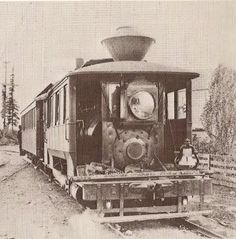"""The Hawthorne Line was started by the Mt. Tabor Railway Co. in 1889, with what was known as """"steam-dummy"""" service, wherein a small steam engine basically gets a box built around it to give it the more sophisticated appearance of a true cable- or electric-streetcar."""