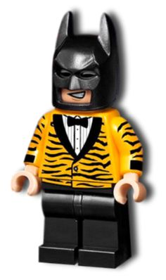 BrickLink - Minifig sh390 : Lego Tiger Tuxedo Batman (5004929) [Super Heroes:The LEGO Batman Movie] - BrickLink Reference Catalog