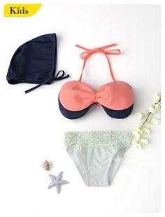 011fc73a89b87 Kid's Swimwear · Bow Tiered Ruffle Kid Bikini (Pink) Red Bikini, Polka Dot  Bikini, Latest