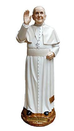 Pope Francis Bonded Marble Resin Statue Roman Catholic Vatican