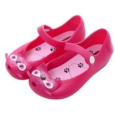 Melissa girl sandals 2016 hot sale new plain rain boot baby summer jelly little cat children toddler kids shoes zapatos alishoppbrasil