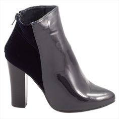 Botine de dama cu toc 92354NAVY - Reducere 50% - Zibra Booty, Ankle, Shoes, Fashion, Moda, Swag, Zapatos, Wall Plug, Shoes Outlet