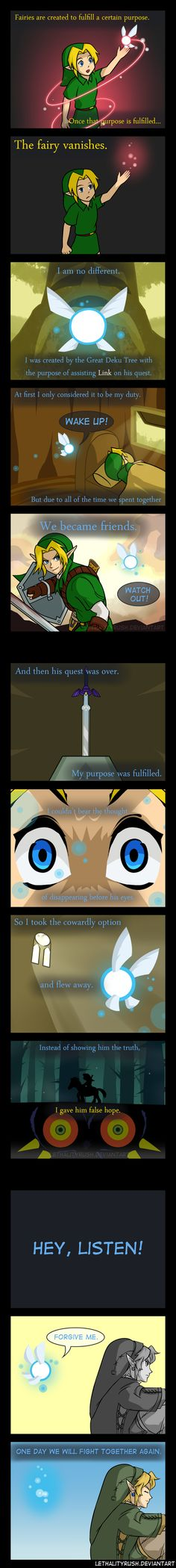 Goodbye Navi by Lethalityrush on deviantART. A beautiful headcanon on Navi and Link... <3