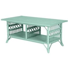 Wicker Coffee Tables | Painted Cottage and Coastal Living St