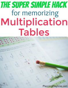 Skip counting multiplication tables with songs. Simple trick for memorizing mupliplication tables - The best math hack you might… Math Tutor, Teaching Math, Math Education, Teaching Tips, Math For Kids, Fun Math, Math 2, Calculus, Algebra