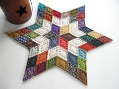 Primitive Star Quilted Table Mat