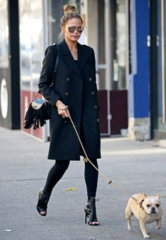 How to Wear Leggings Like a Celebrity This Winter - Chrissy Teigen  - from InStyle.com