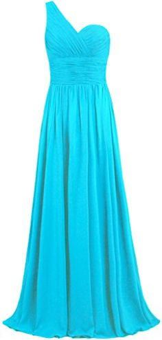 """ANTS Women's One Shoulder Long Chiffon Bridesmaid Dress Homecoming Gown Size 22W US Turquoise. When adding to cart,please make sure the item sold by """"Ants Bridal"""" only. All of our dresses listed in our Amazon store, is designed, produced, and sell by us(Ants Bridal) Only. If you choose any other seller below our listing,you will be cheated,such as get the terrible product can't use, cheated by invalid package tracking ID and waste long time to wait,Even not get nothing, and finally waste…"""