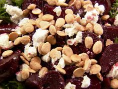 Balsamic Roasted Beet Salad recipe from Ina Garten via Food Network