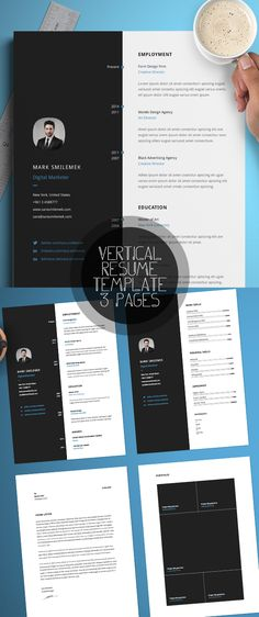 Professional Resume Template, CV Template Editable in MS Word and - resume template editable