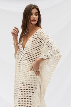 Best 10 Sexy Crochet Off Shoulder Lace Up Bohemian Summer Dresses, Crochet Summer Dresses, Lace Knitting, Crochet Lace, 4th Of July Outfits, Knitted Poncho, Beautiful Crochet, Handmade Clothes, Boho Outfits