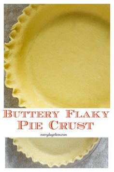 Buttery Flaky Pie Crust How to make a homemade flaky pie crust from scratch is easier than you think. Use this detailed tutorial to get the easy instructions to make a buttery flaky pie crust. You won't want a store made crust again. Homemade Pie Crusts, Pie Crust Recipes, Tart Recipes, Baking Recipes, Baking Hacks, Sweet Recipes, Fun Desserts, Delicious Desserts, Dessert Recipes