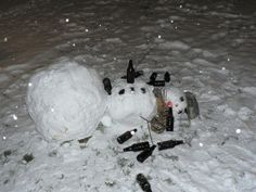 Funny and creative snowmen - FB Troublemakers