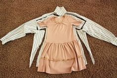 little girl dress made from man button up shirt by kelly.f.mann