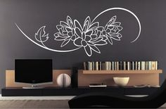 LOTUS FLOWER DESIGN by StickONmania. Wall Decal by StickONmania, $35.00