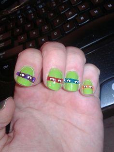New nails for the week. Used migi nail art pens again lol