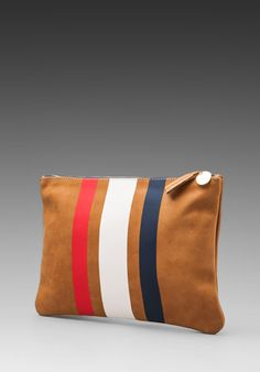 CLARE VIVIER 3 Stripe Flat Clutch in Red/White/Blue at Revolve Clothing - Free Shipping!