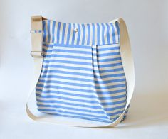 Items similar to Water resistant /STOCKHOLM Traditional light blue cream stripe French messenger on Etsy Traditional Lighting, Couture Sewing, Tar Heels, Blue Cream, Purses And Handbags, Diaper Bag, My Photos, Light Blue, Cute Outfits