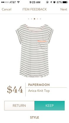 Papermoon anica knit top stitch fix - I like the details that take this from a plain tshirt to something with more style