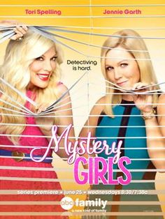 "Tori Spelling (""Beverly Hills, 90210,"" ""Tori & Dean: Inn Love"") and Jennie Garth (""Beverly Hills, 90210,"" ""What I Like About You"") are back together in a new hit sitcom called MYSTERY GIRLS along with newcomer Miguel Pinzon (""A New York Love Story""). - #MysteryGirls #ABCFamilyEvent"