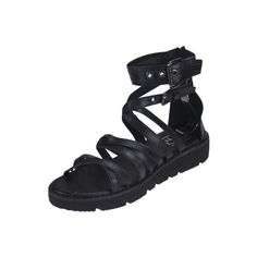 Open Toe Flat Platform Gladiator Sandals (295 HKD) ❤ liked on Polyvore featuring shoes, sandals, black, black gladiator sandals, black sandals, greek sandals, platform sandals and platform gladiator sandals