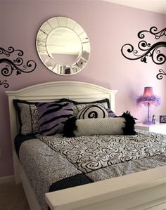 Goth swirl scroll wall decals stickers. Express your personal style with these glamorous wall stickers. Apply these swirly,curly wall decals a million different ways to accent your style, even on furniture!