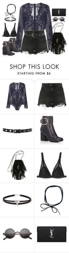 """Untitled#4557"" by fashionnfacts ❤ liked on Polyvore featuring I.D. SARRIERI, Alexander Wang, Miss Selfridge, Yves Saint Laurent, Monki and Forever 21"