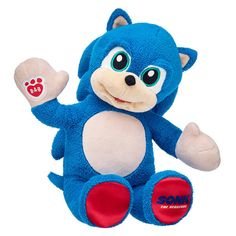 This action-packed Sonic the Hedgehog stuffed animal is a whole new speed of hero with its blue fur, plush spikes, and red paw pads. Shop now at Build-A-Bear! Hedgehog Movie, Sonic The Hedgehog, Play Sonic, Valentines Day Teddy Bear, Bear Head, Harry Styles Wallpaper, Raising Boys, Blue Gift, Build A Bear