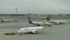 Air Baltic 737 at Sheremetyevo.