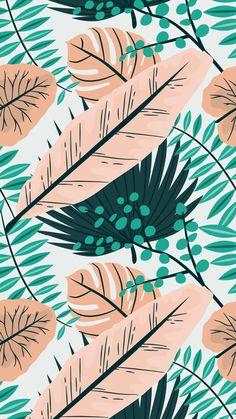 Summer botanical iphone background free!