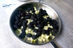 Blackberry Apple compote in the making