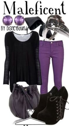 disney+themed+clothes | Disney inspired clothing by DisneyBound. Maleficent. Purple skinny ...