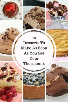 10 Desserts You Should Make As Soon As You Get Your Thermomix - Thermobliss Top 10 Desserts, Desserts To Make, Delicious Desserts, Yummy Food, Gourmet Recipes, Sweet Recipes, Dessert Recipes, Cooking Recipes, Yummy Recipes
