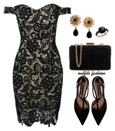 Lace by outfitsfashion4 on Polyvore featuring moda, WithChic, Steve Madden, MICHAEL Michael Kors, Pomellato and Dolce&Gabbana